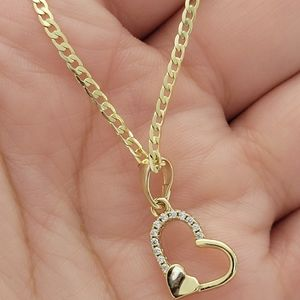 40 cm women's necklace with heart charm